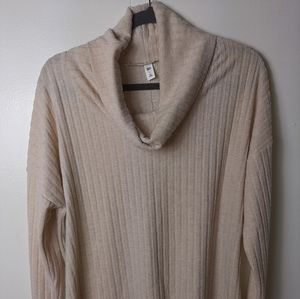 B.P. soft cotton ribbed cowl neck sweater